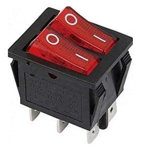 Interruptor doble 6 contactos Bipolar