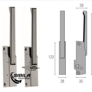 maneta cierre G780 INOX nariz tipo C